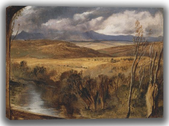 Landseer, Sir Edwin: A Highland Landscape. Fine Art Canvas. Sizes: A4/A3/A2/A1 (003933)